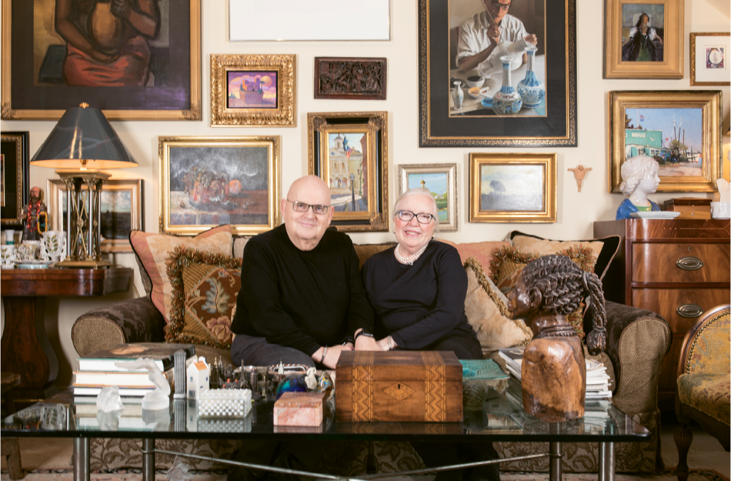 The Calk/Havens home displays the couple's international art collection.