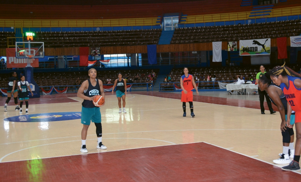 DJ Williams shoots a free throw during one of three games the Chanticleers played against the Cuban National Team in Havana's Sports City Coliseum