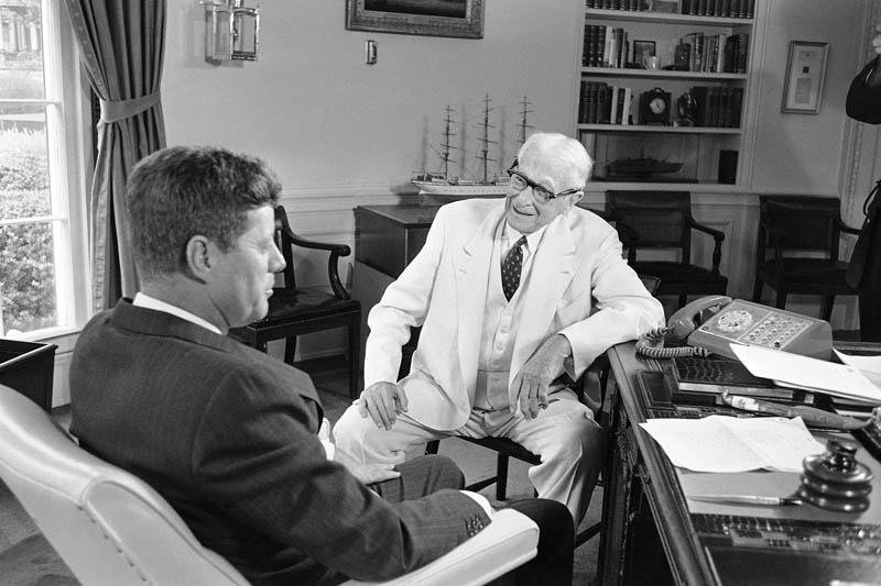 Baruch in the Oval Office with President John F. Kennedy