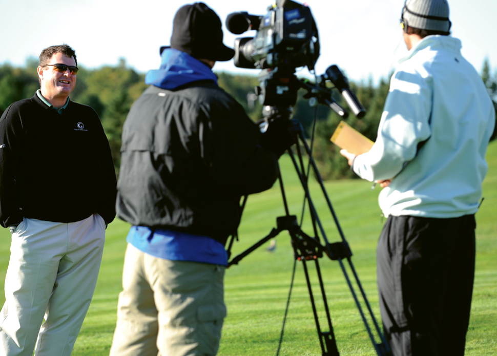 Rymer on air for Golf Channel.