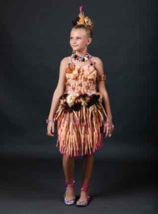 """Harlow Pierce modeling """"Barbie Parts"""" by Jen Pierce & Sandi Shackleford. Winner of Most Intricate."""