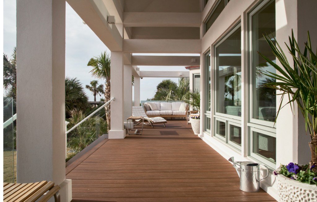 Beachfront Beauty: Taking full advantage of its oceanfront locale, the Nardslico home brings in the Atlantic vista through strategically placed windows and a second floor private sun deck.