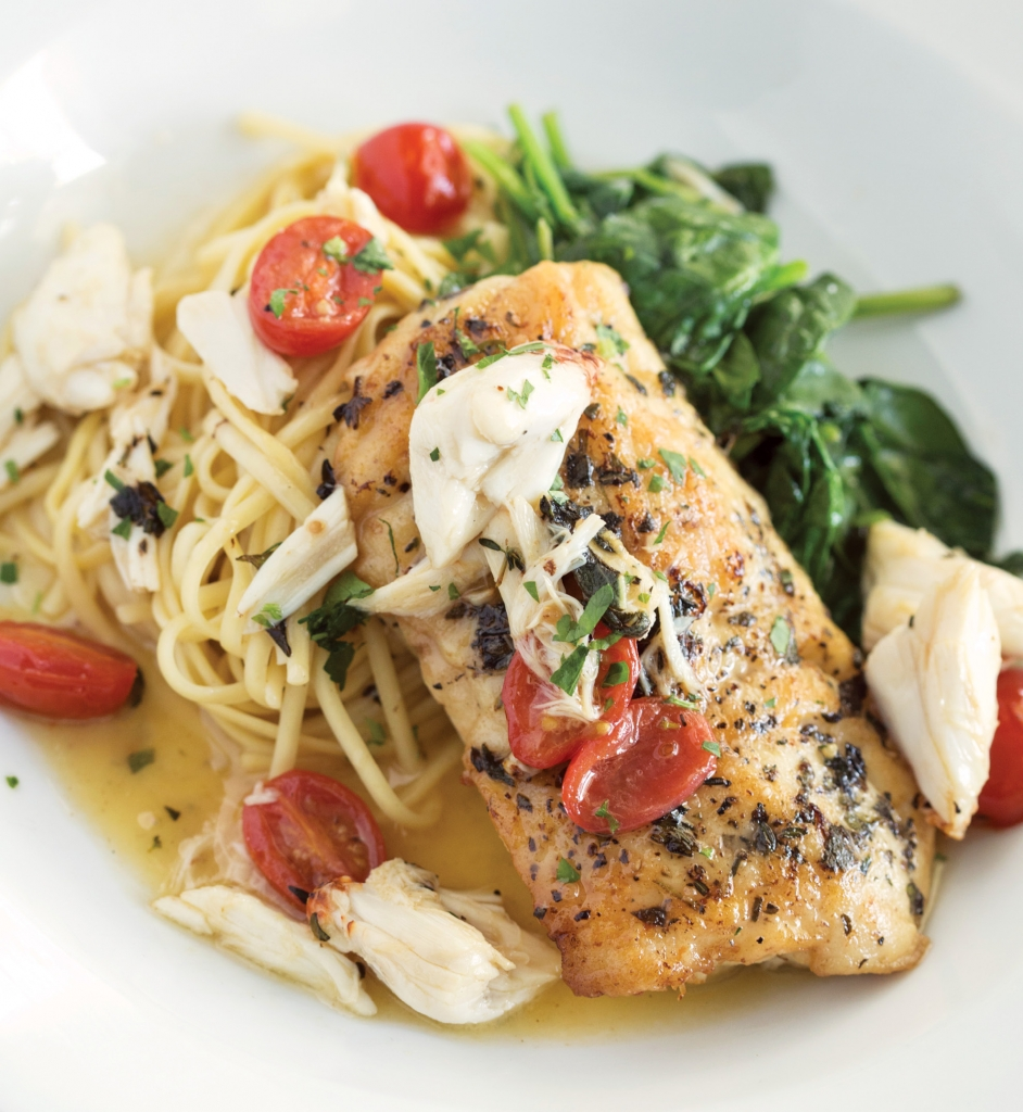 Toast to Costa: Costa Coastal Kitchen's Grouper Amalfi is just one of the restaurant's many seafood delicacies.