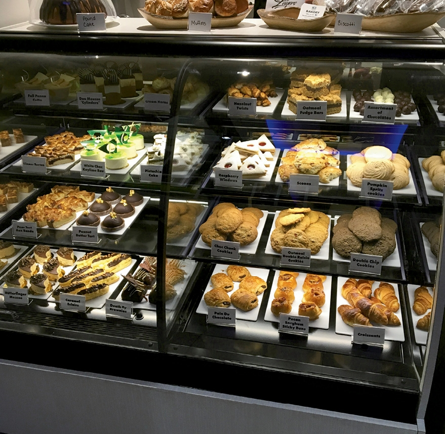 Student-made pastries, breads and confections are offered for resale in the lobby during normal school hours.