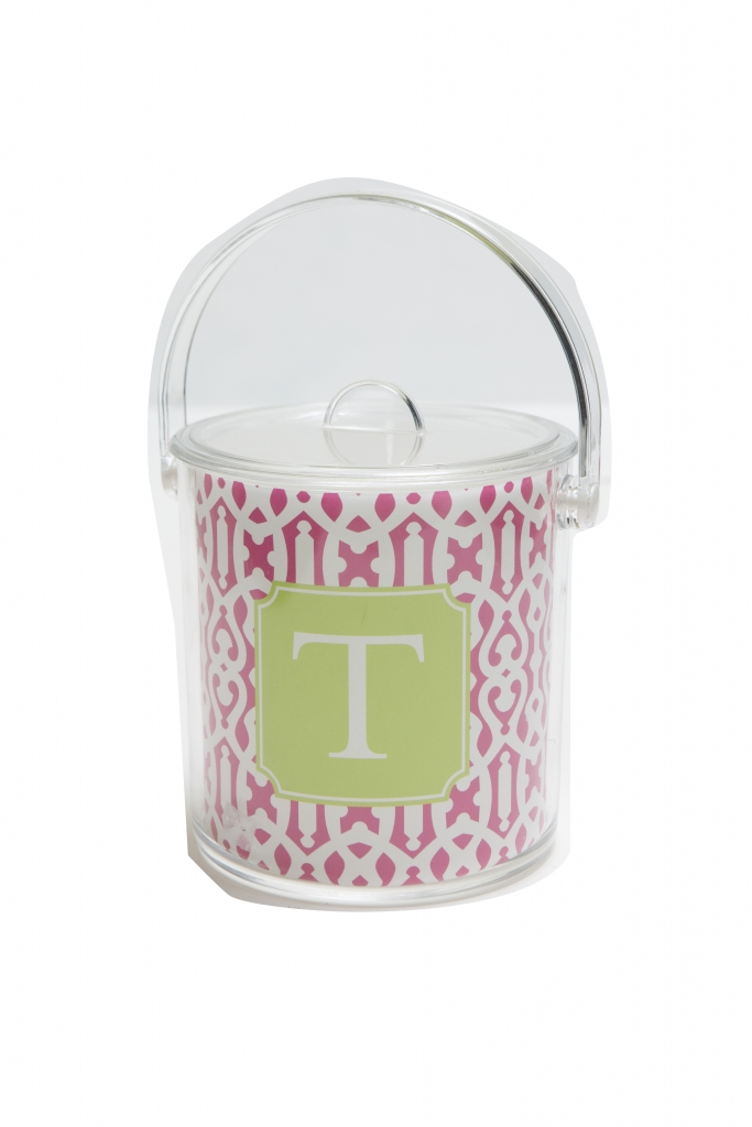 Just Chill Use this little monogrammed ice bucket at your next outdoor spring soirée.  $60. Custom Designed at Ooh La La, 6912 N. Kings HIGHWAY # B, Myrtle Beach.  (843) 449-8040