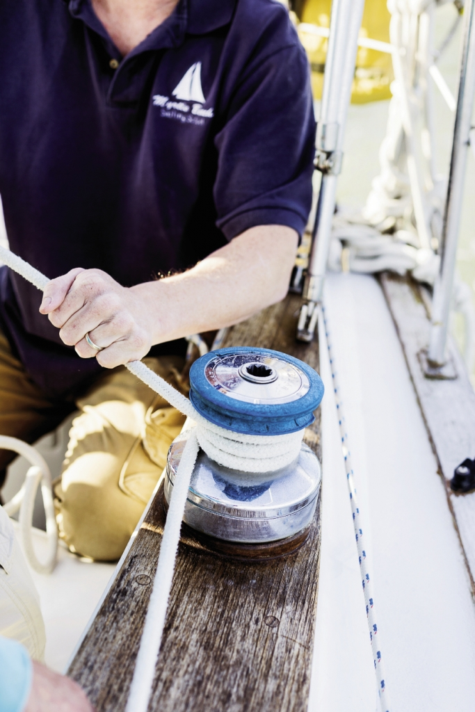 Proper technique is important when wrapping lines on the winch.