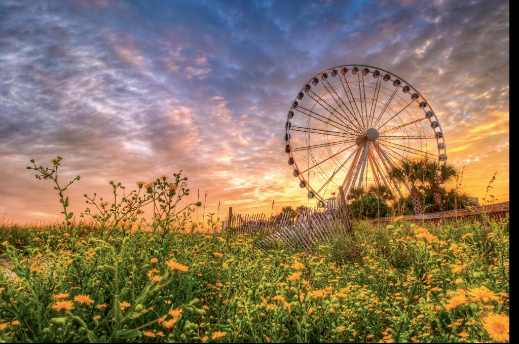 Skywheel sunset  Photographer: Chuck Lawhorn  Where: Myrtle Beach Boardwalk