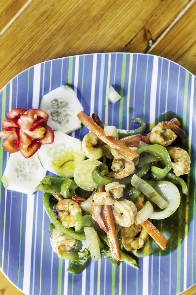 "Shrimp Delight:  ""Shrimp With This and That"" is how Chef Eric will sometimes describe this enigmatic but authentic dish."