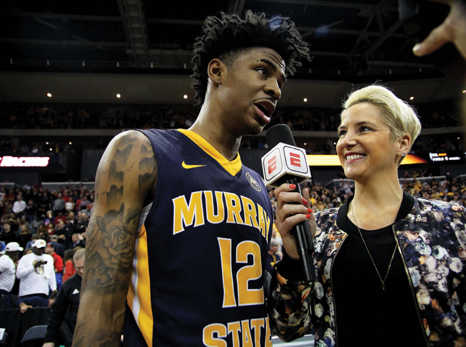 Weisbrod with Murray State's Ja Morant