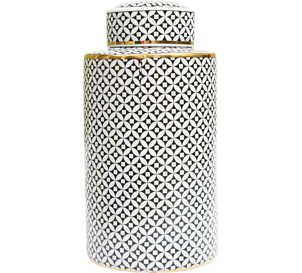 This beautiful canister will add luster and life to an odd end or boring shelf throughout any fabulously decorated home.