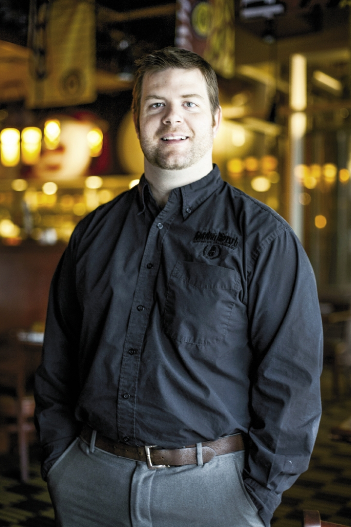 Going Strong: William Morris, general manager of brewpub Gordon Biersch, says his restaurant has seen growth every year since opening in 2008.