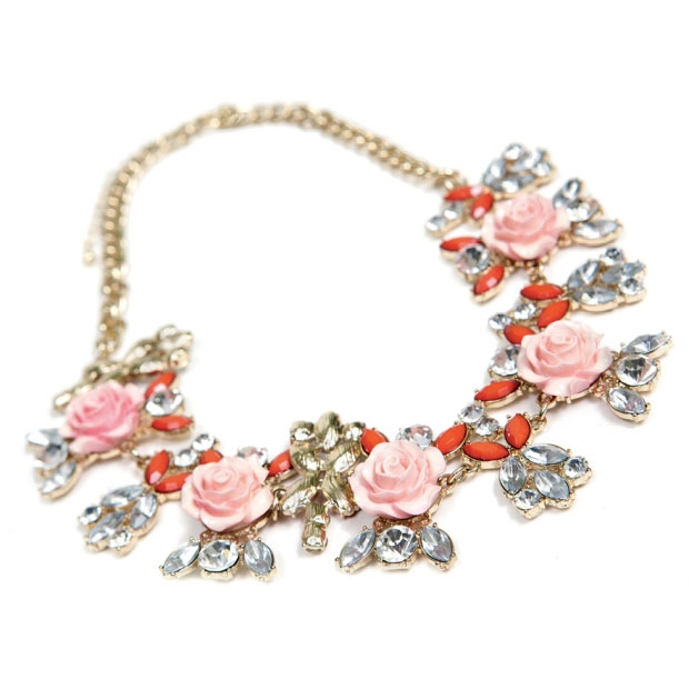 7. Blooms of Coral - Make a statement with these beautifully carved coral blossoms around your décolletage.