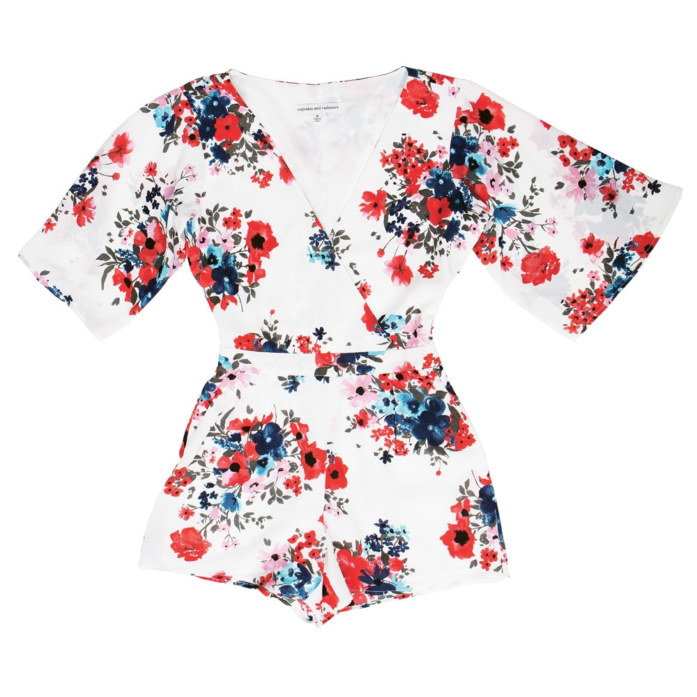 2. Jump for the Flowers -Head out on the town in this wildflower-printed jumpsuit by cupcakes and cashmere.