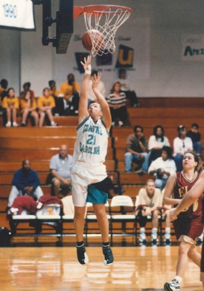Weisbrod's basketball career at CCU would earn her national recognition.