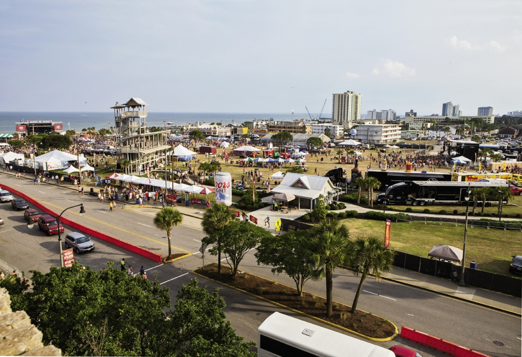 Getting Underway: Crowds rolled in early each day of the four-day inaugural Carolina Country Music Festival in June, filling the empty lots at Ninth Avenue North and Ocean Boulevard in Myrtle Beach.