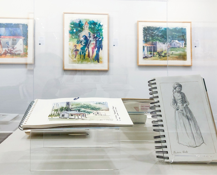 Exhibits go beyond traditional displays and often include artists' sketches, personal notes, quotes and other materials.