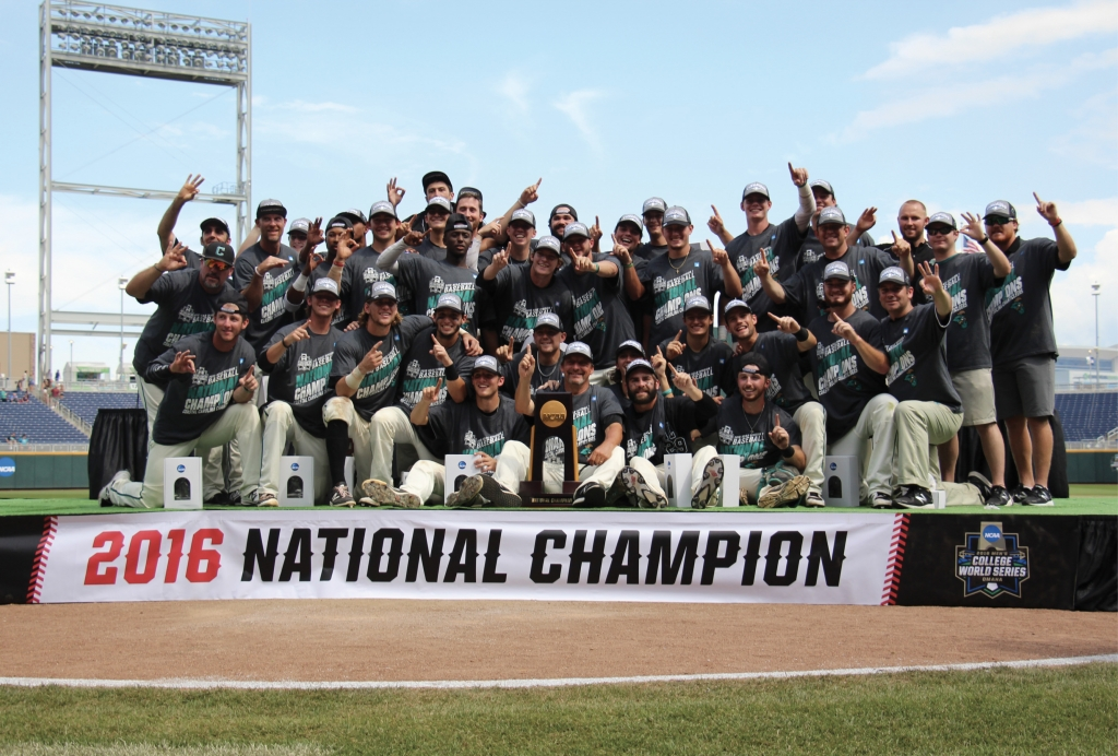 A Long Road: After a grueling, 64-team playoff series, CCU coach Gary Gilmore led his team to a national championship in 2016, beating every NCAA college baseball opponent in tournament play in the U.S.