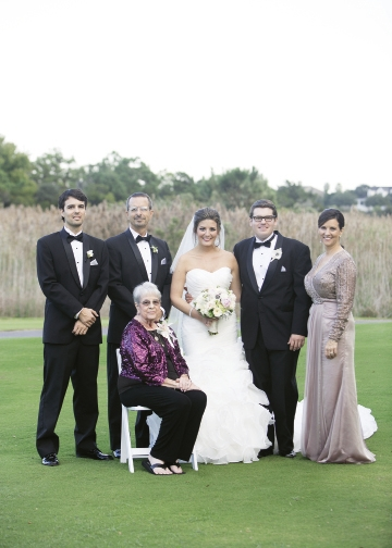 Southern Glam:The outdoor majesty of  the DeBordieu courtyard combined with the elegance of the clubhouse made the Jones' wedding day breathtaking.
