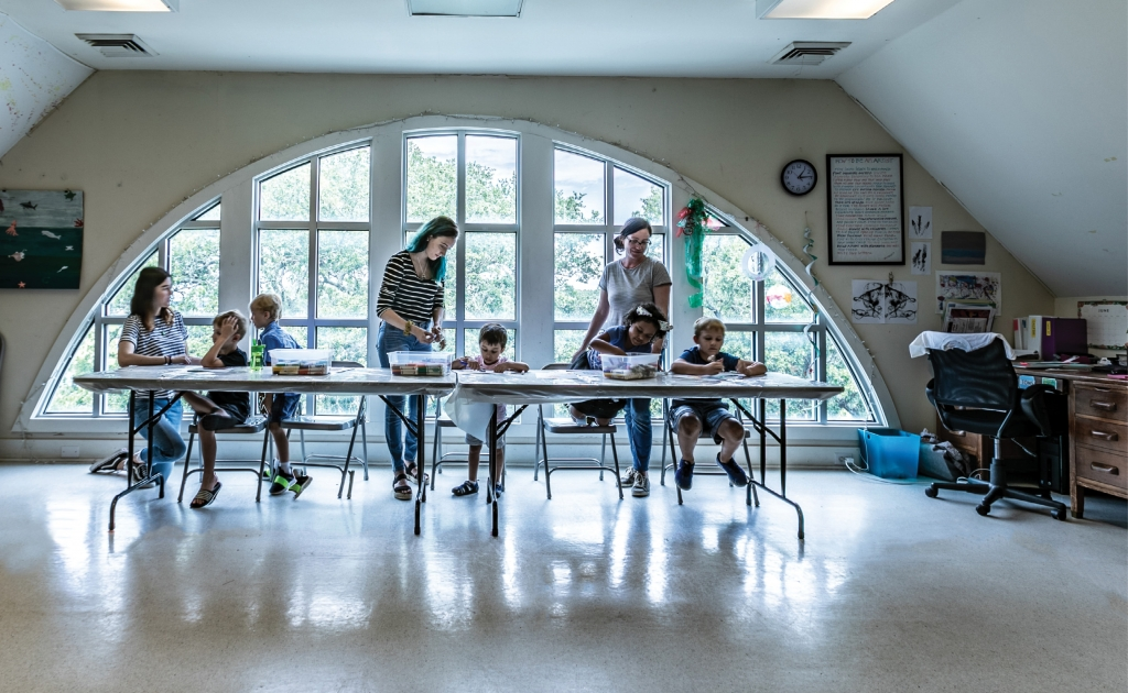 The Kid's Art program, managed by Education Curator Tracey Roode, enables the museum to reach out and engage the community.
