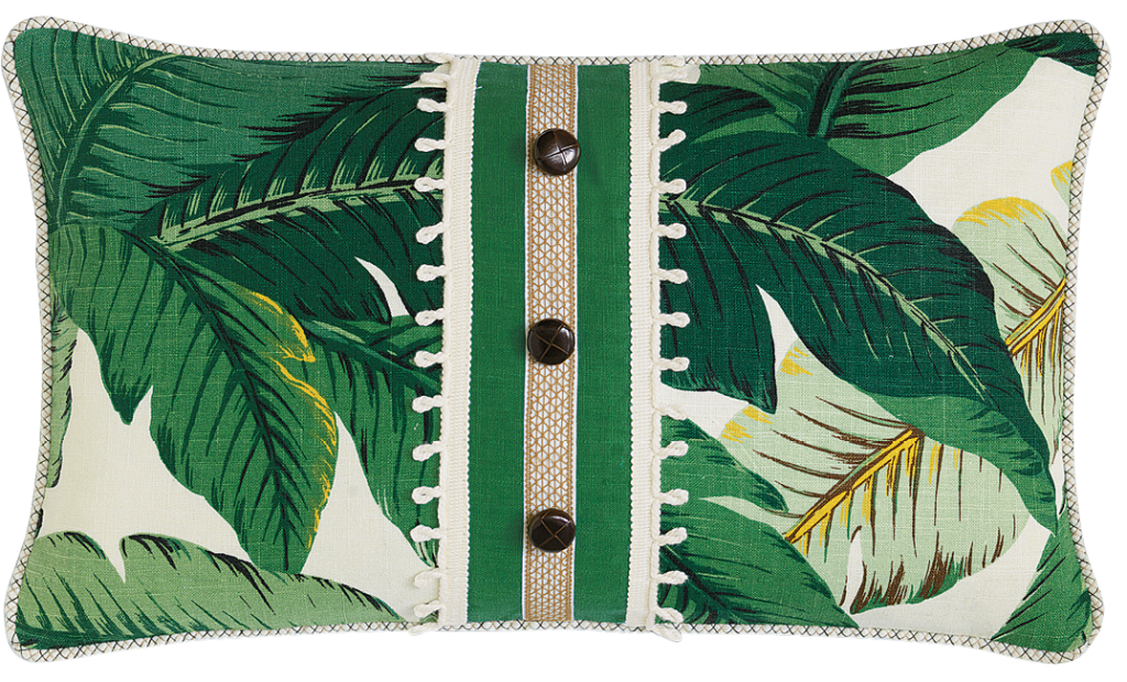 Frond of you  - A sublimely tropical pillow