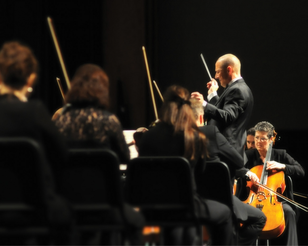Maestro Charles Evans has led both the adult symphony and the youth symphony for 21 years.