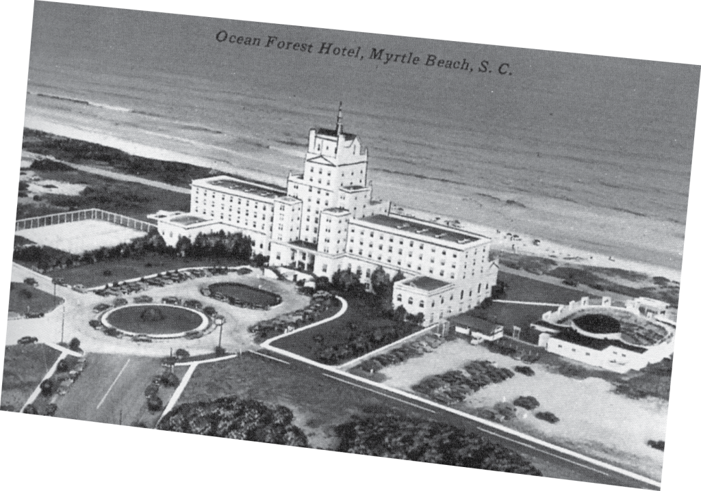 The Ocean Forest Hotel was a 10-story castle with 202 ventilated guest rooms.