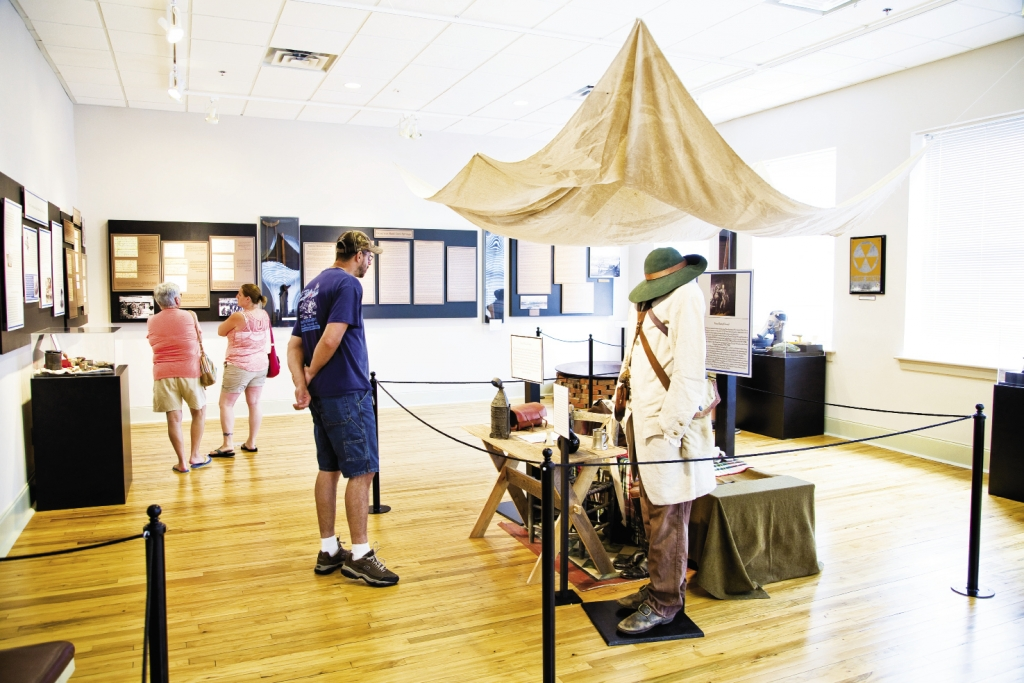 Dioramas covering nearly 10,000 years of local history may be found on two floors in the school-turned-museum.