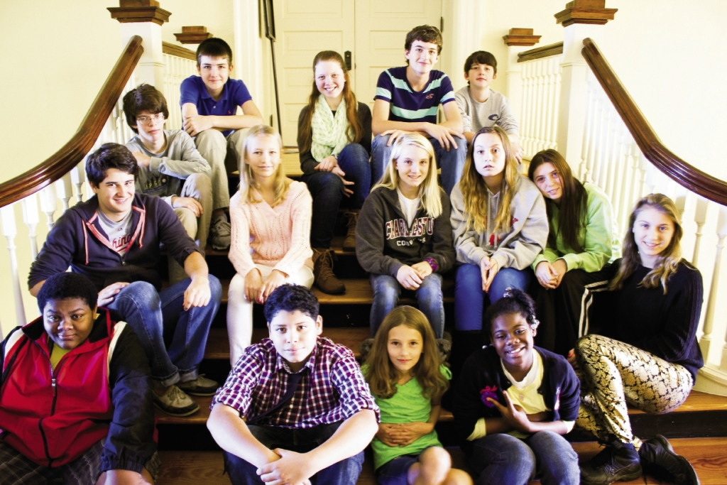 The smiling and eager faces of students enrolled in The Georgetown School  are in grades 6–12.