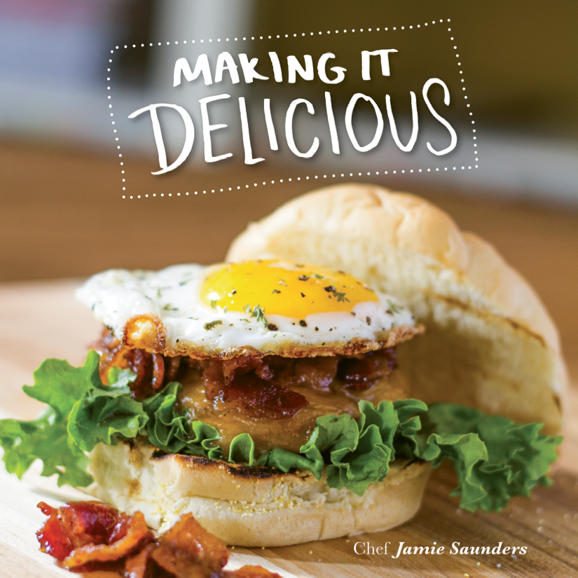 Chef Jamie Saunders of Johnny D's Waffles and Bakery is the author of a new cookbook
