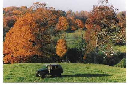 Countryside Calling To this day, Harry roams the rolling hills of his Lake Geneva farm in a World War II Army jeep.