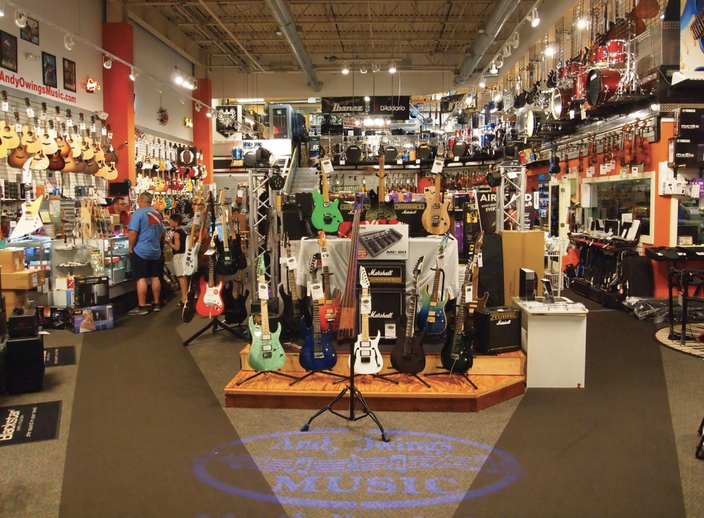 Rock 'n'Roll Heaven:A feast for the eyes (and ears), Andy Owings Music Center at Coastal Grand Mall in Myrtle Beach has provided for area musicians from beginner to pro for 45 years.