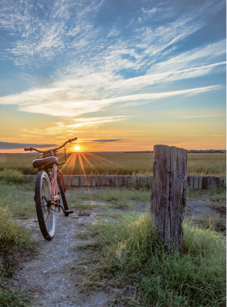 A Bike and Sunset - Mark D. Head - 40th Street, Sunset Beach