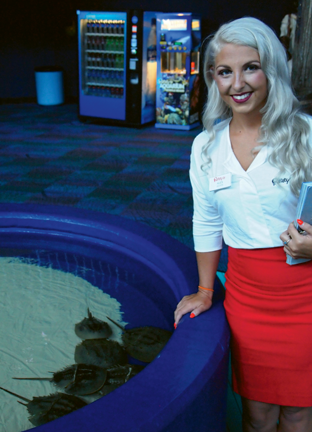 Ripleys Aquarium education supervisor, Alex McMinn, looks the part of an authentic mermaid in and out of costume.