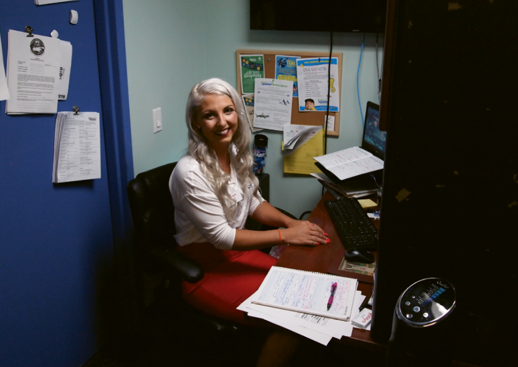 Alex McMinn in her and Ripley's Aquarium office