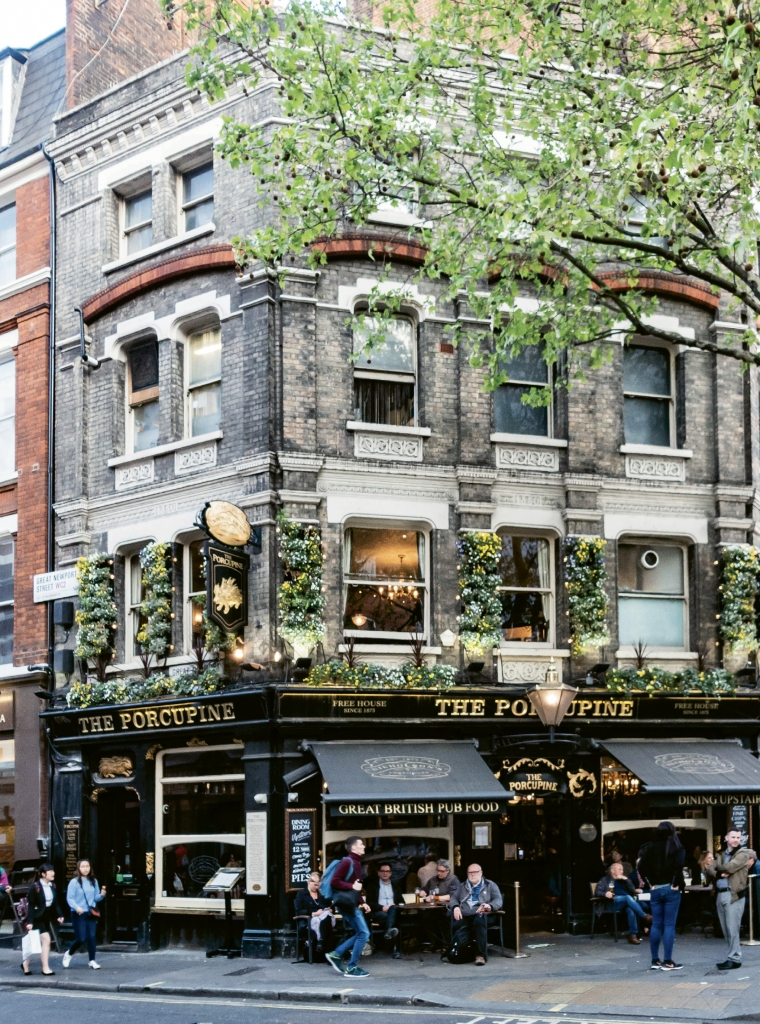 The Porcupine public house in Leicester Square dates to 1725.