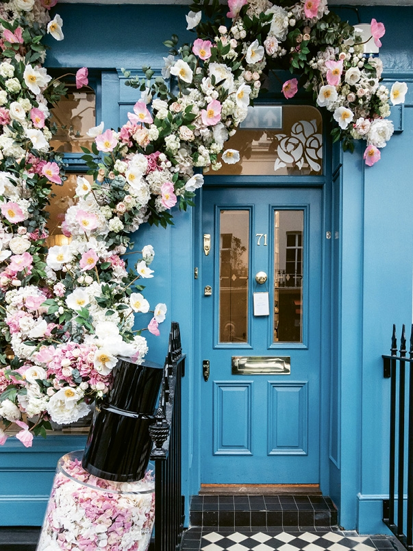 Flowers cascade in and around Elizabeth Street boutiques such as Les Senteurs perfumery and Luna Mae, maker of custom-designed and tailored lingerie, as well as prestigious florist Moyses Stevens, , with even more blooms on display during the spring Chelsea Flower Show.