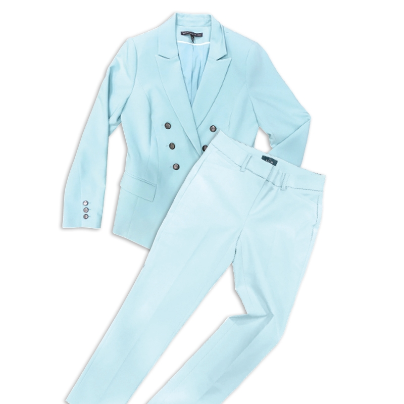 Black is out. Get r-e-s-p-e-c-t in your pastel power suit.