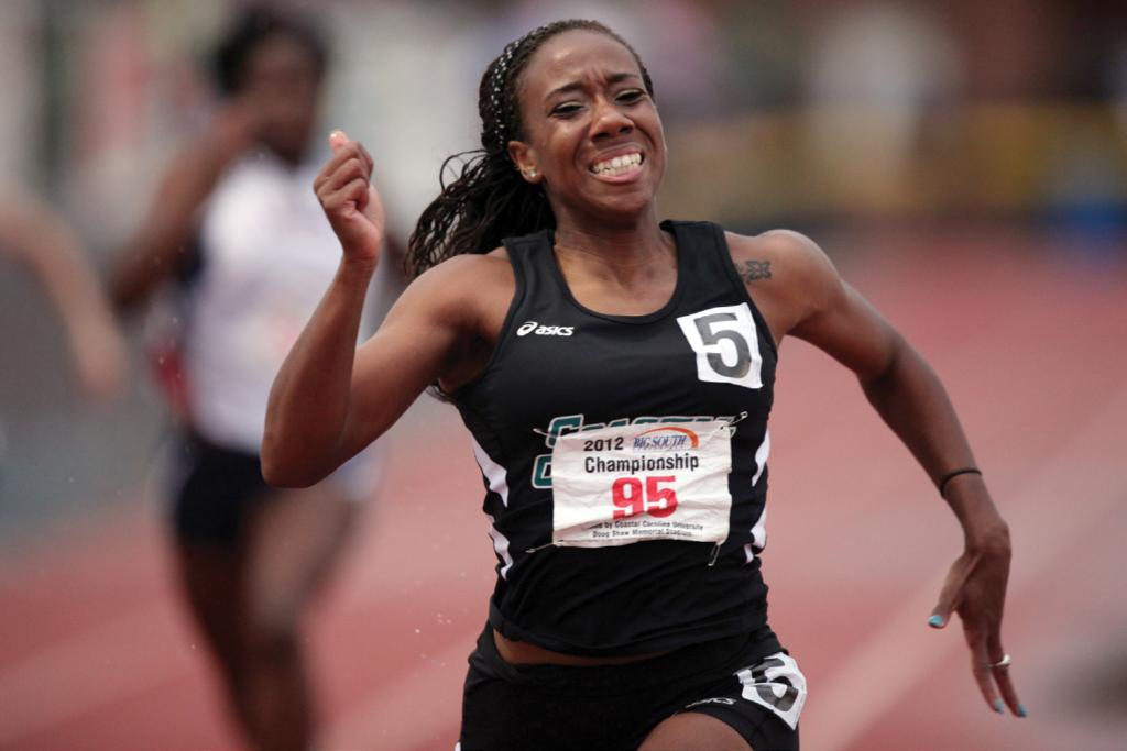 Women's Track & Field competitor Erica Peake in 2012.