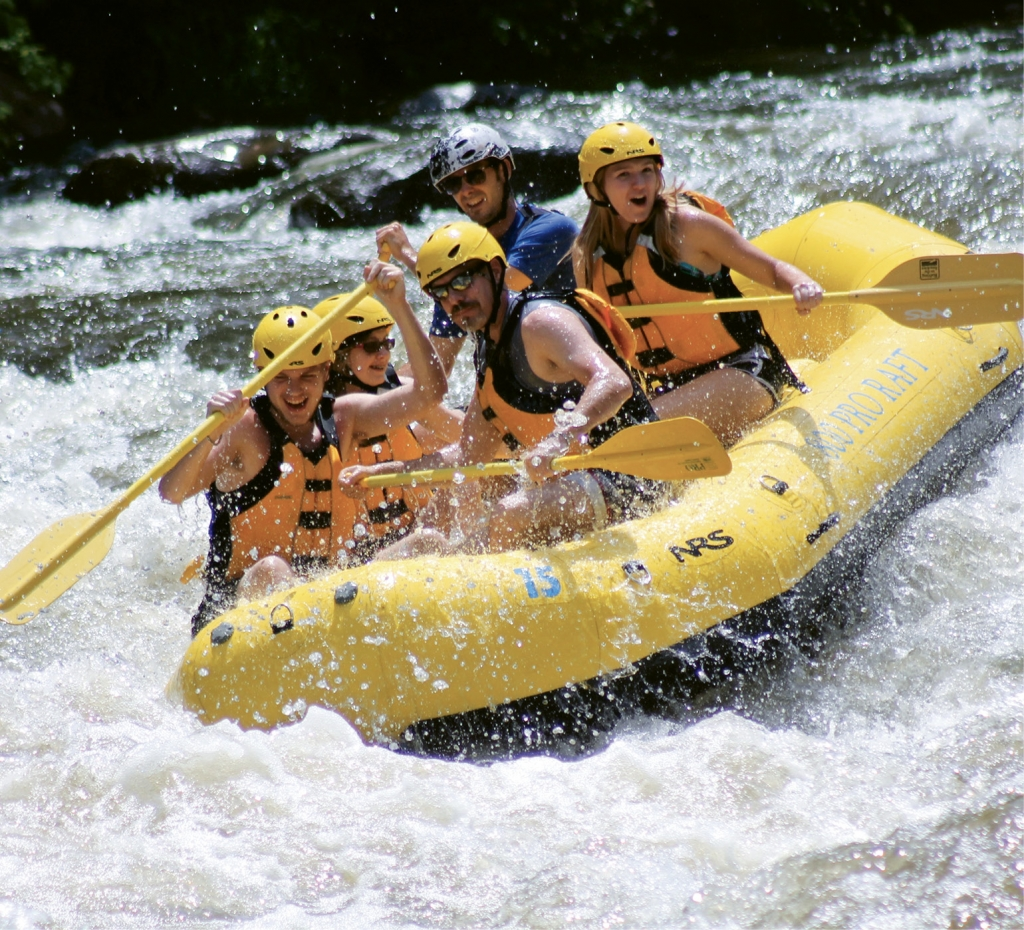 Big water, big thrills and big adventure happen daily at Rafting in the Smokies.