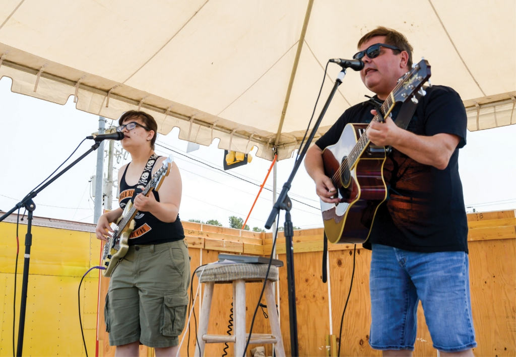 The The Socastee Heritage Festival features three stages of musical performers.