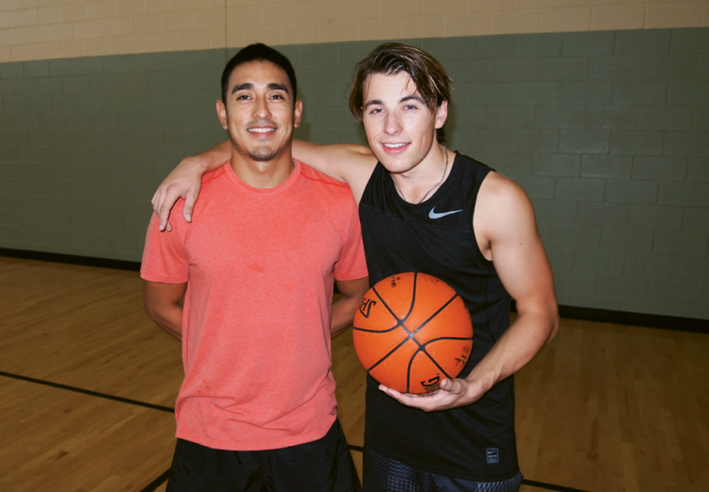 Personal trainer Rudy Uribe runs Zak through a tough two-hour workout at least twice a week