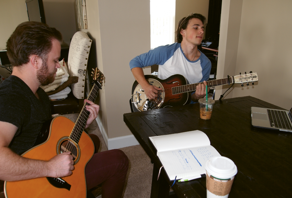 Friend and musician Will Ness joins Zak regularly for songwriting sessions at Zak's apartment.