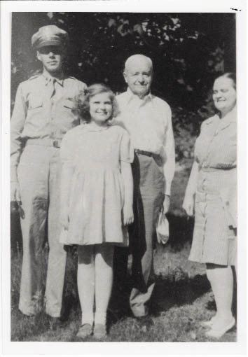 Serving His Country: Harry visits family during his service in World War II.