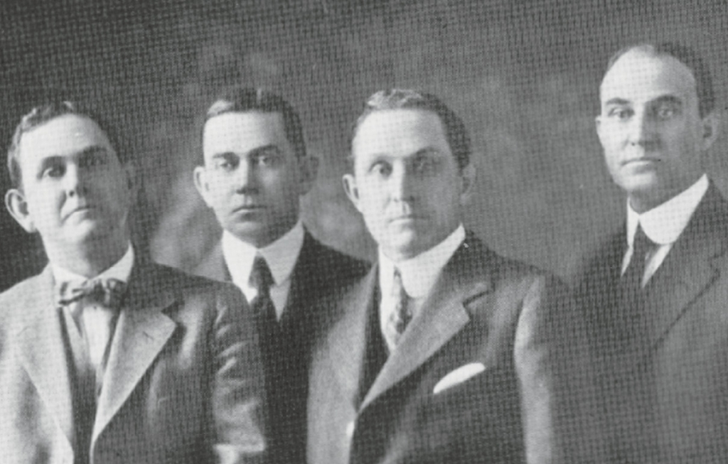 The Woodside Brothers of Greenville were the visionaries responsible for building the Ocean Forest Hotel. They are (from left) Edward F., Robert I., Joel David and John T. Woodside.