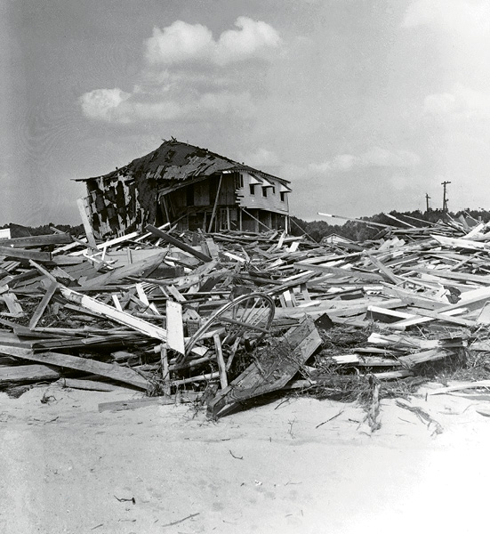 Hurricane Hazel's destruction in Cherry Grove.