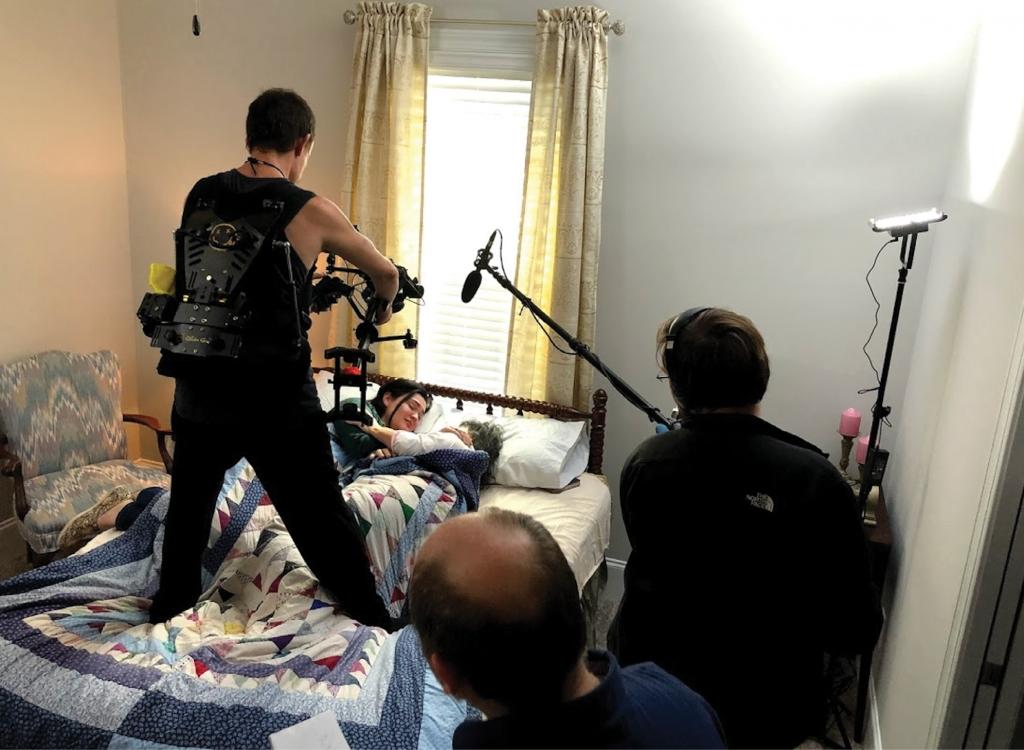 Shooting a scene from the award-winning short film Sal.