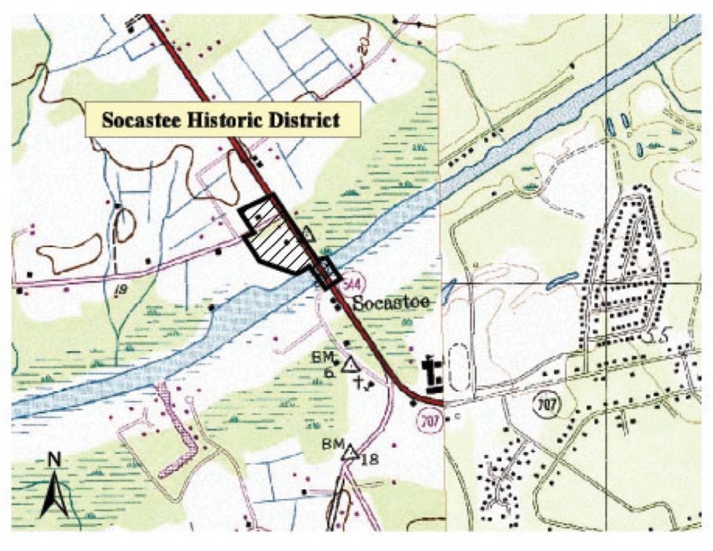 Architectural Antiquity: Three structures, a bridge, and a pecan grove make up the Socastee Historic District.