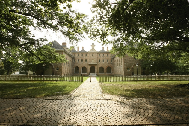 The College of William and Mary offers a beautiful, majestic setting for walking and shopping.