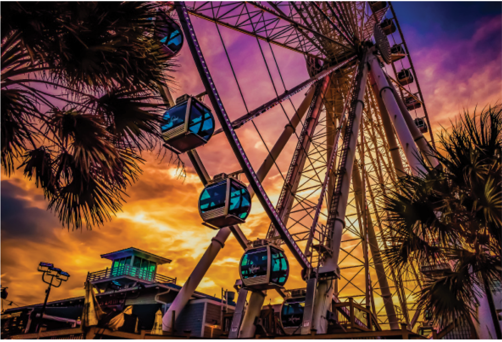 Myrtle Beach SkyWheel At Sunset - David Smith Myrtle Beach SkyWheel