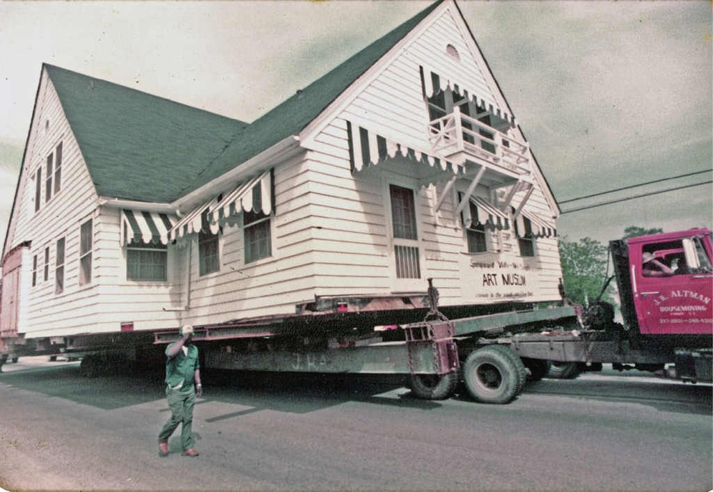 It took three days to move the 150-ton building to its present site.